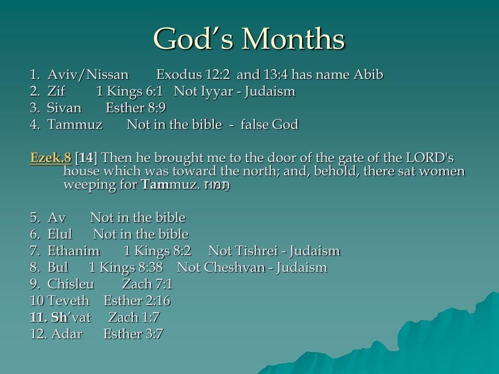 God's Months