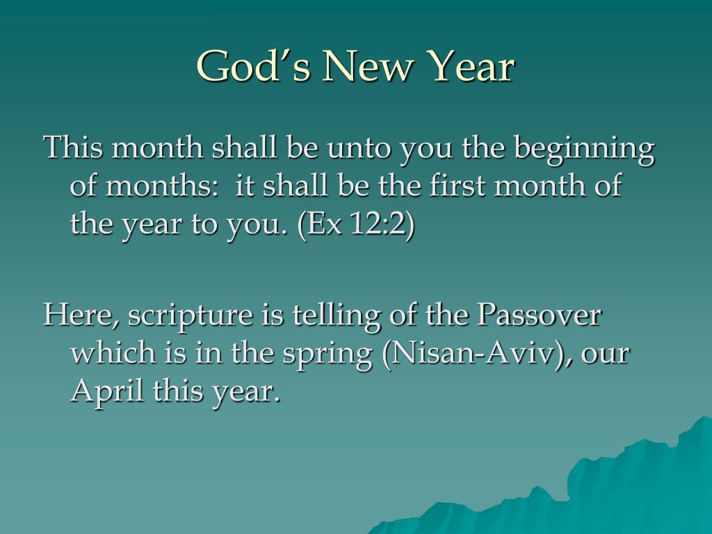 God's New Year