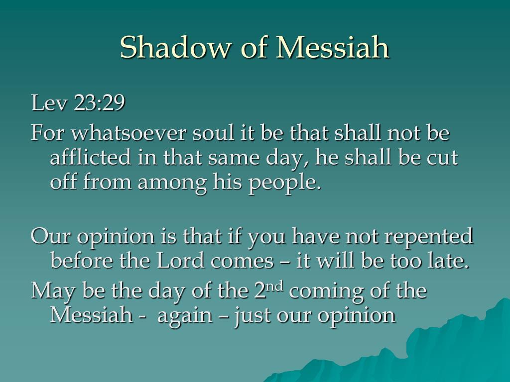 Shadow of Messiah