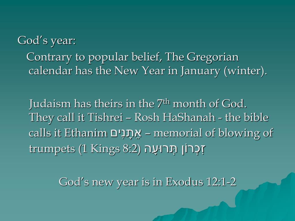 God's year: