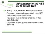 advantages of the aes mpn on the web30