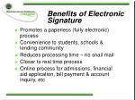 benefits of electronic signature