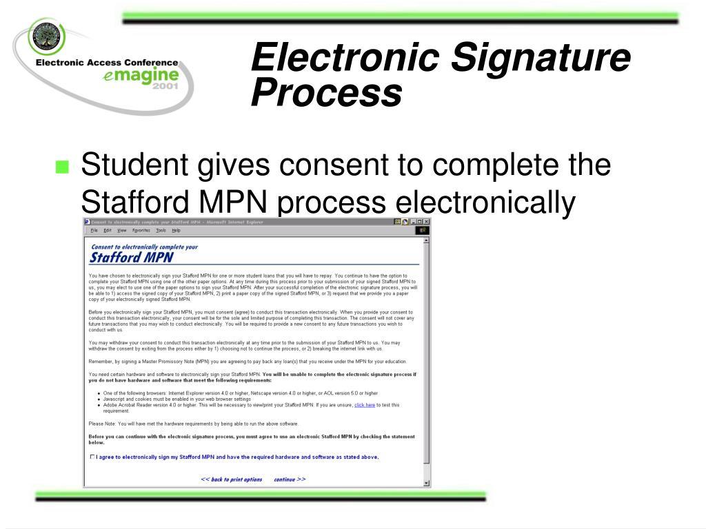 Electronic Signature Process