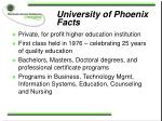 university of phoenix facts