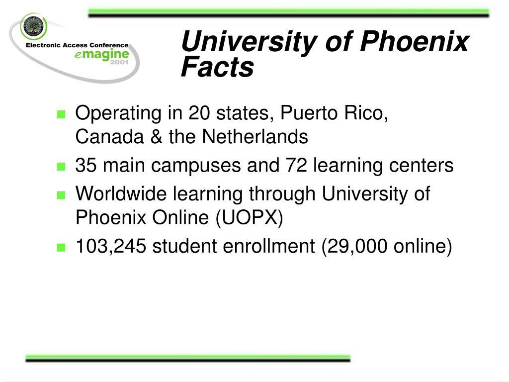 University of Phoenix Facts