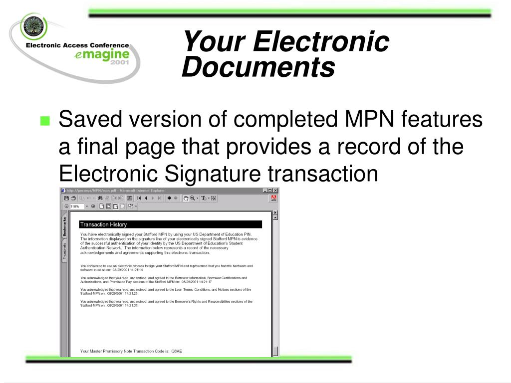 Your Electronic Documents