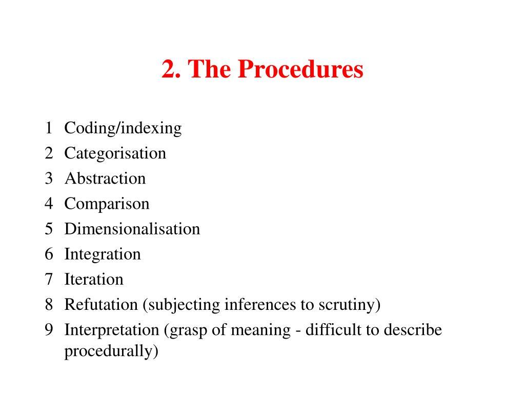 2. The Procedures