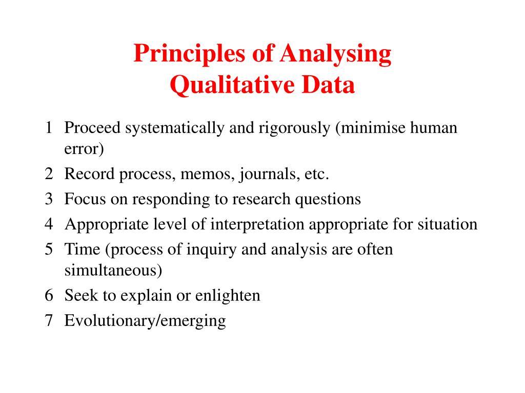 Principles of Analysing