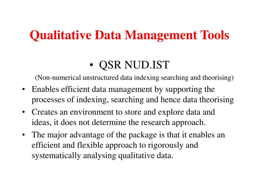 Qualitative Data Management Tools