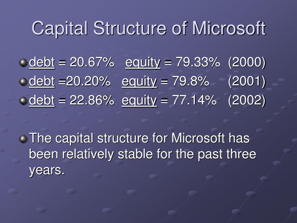 Capital Structure of Microsoft