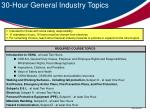 30 hour general industry topics