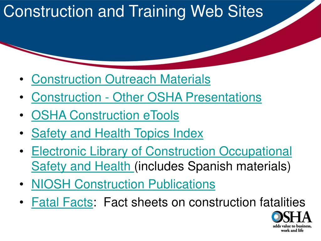Construction and Training Web Sites