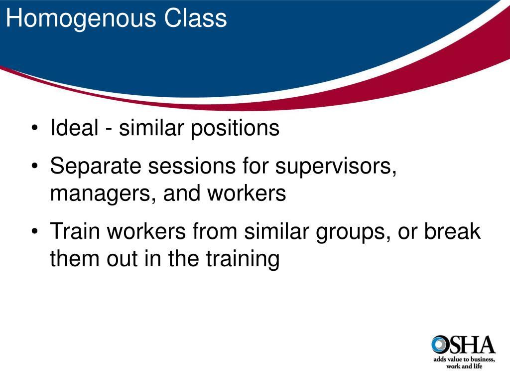 Homogenous Class