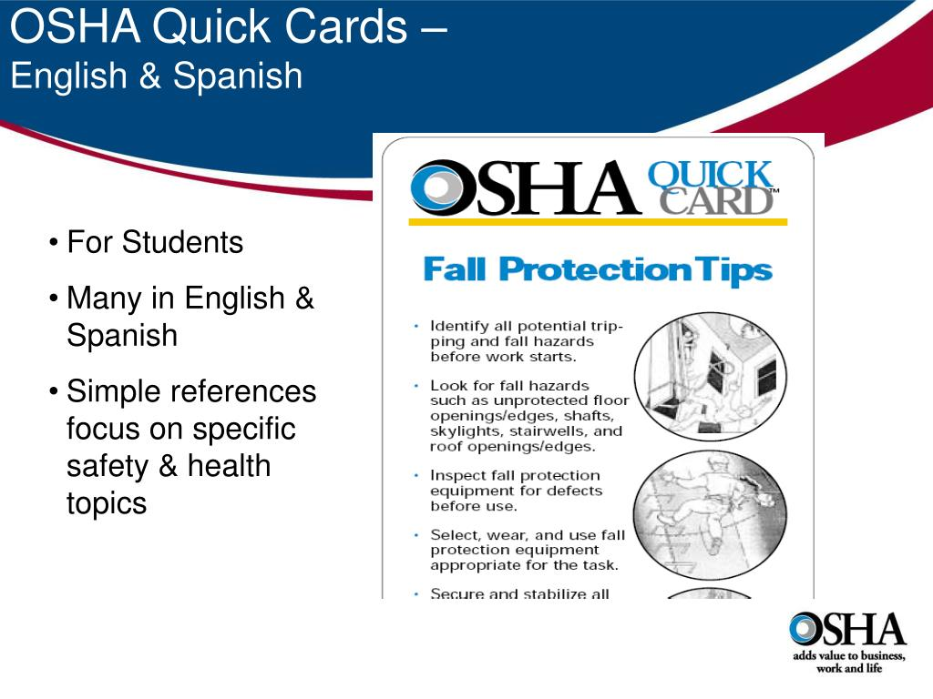 OSHA Quick Cards –