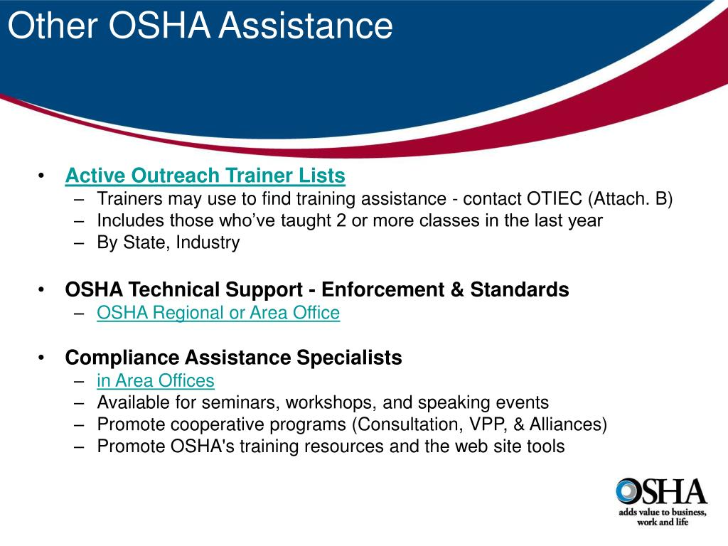 Other OSHA Assistance