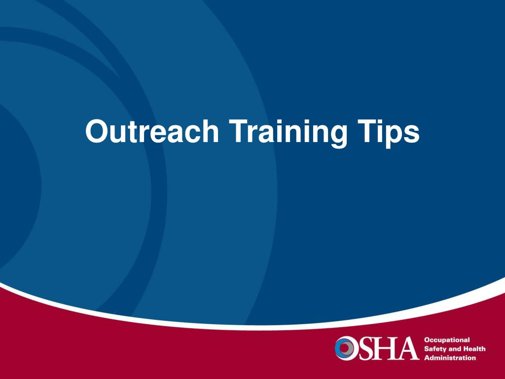 Outreach Training Tips