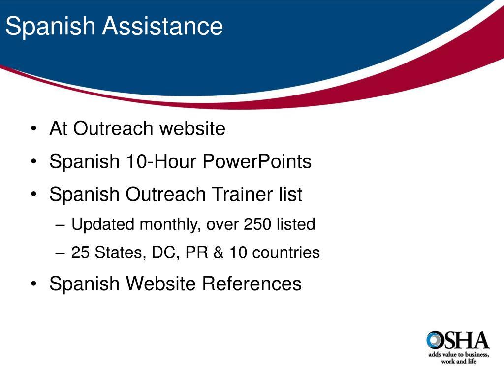 Spanish Assistance