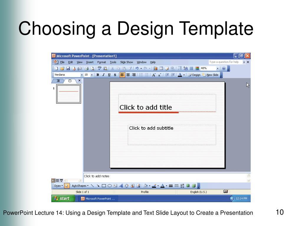 Choosing a Design Template