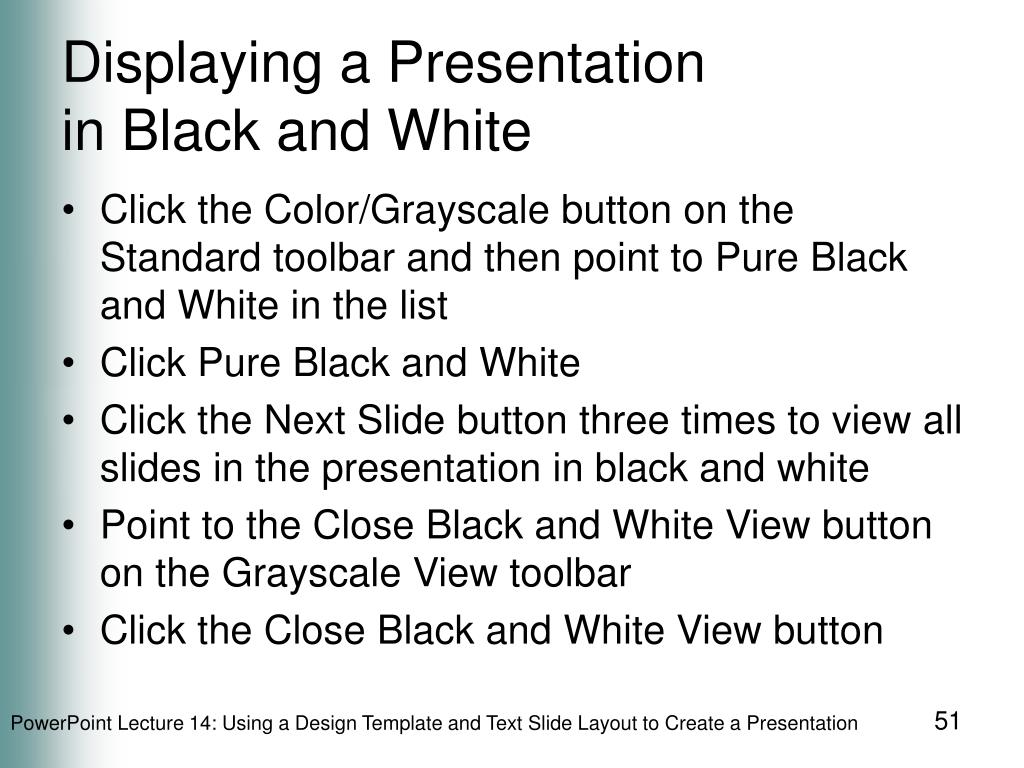 Displaying a Presentation