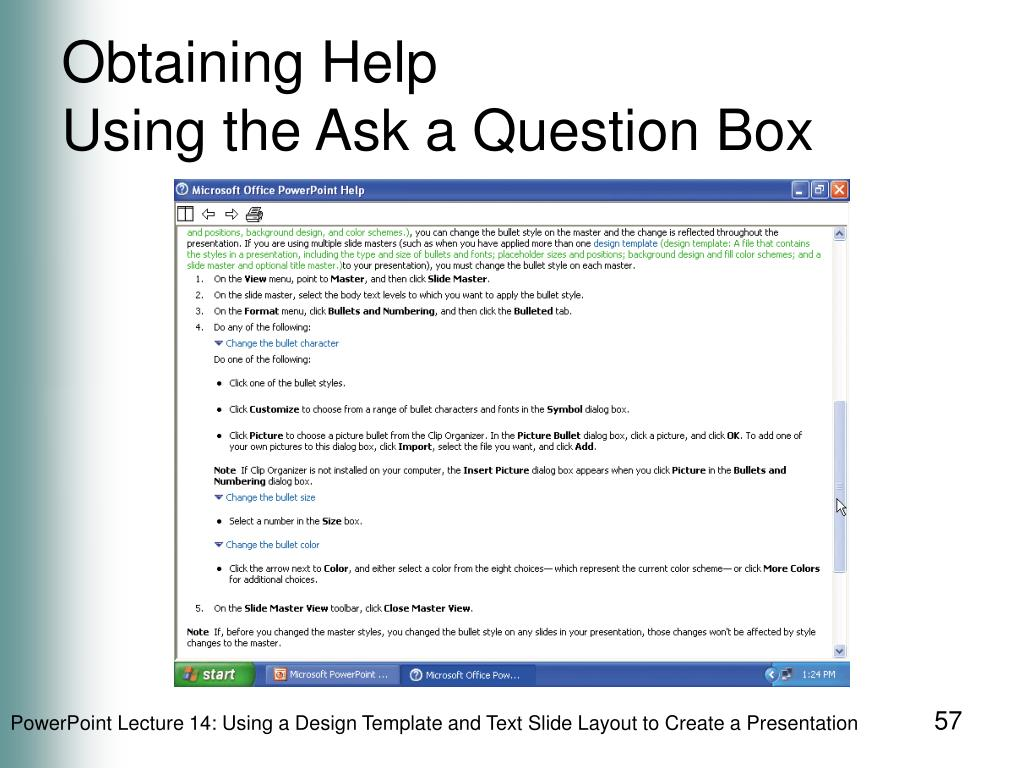 Obtaining Help