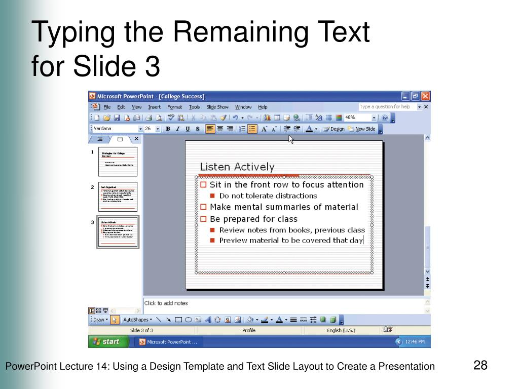 Typing the Remaining Text
