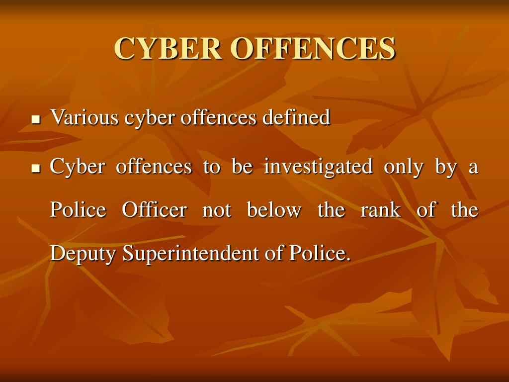 CYBER OFFENCES