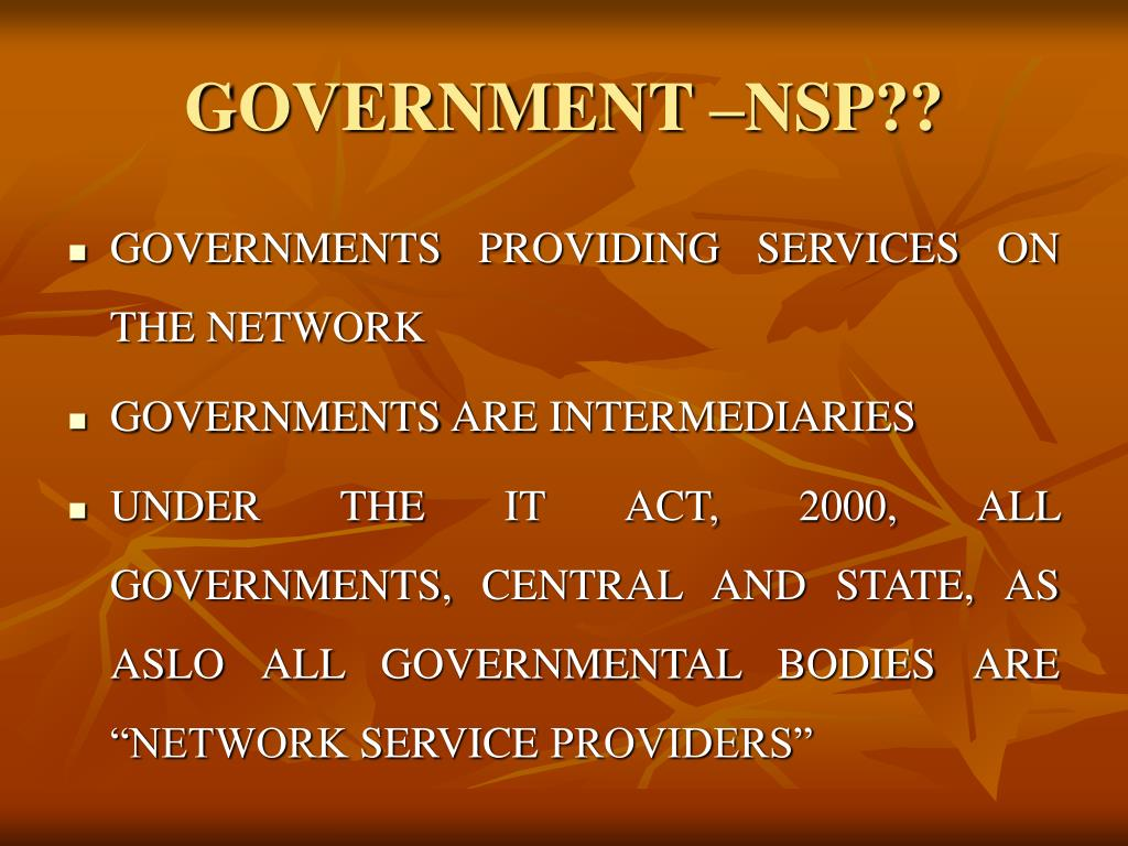 GOVERNMENT –NSP??