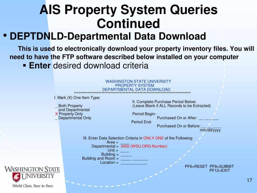 AIS Property System Queries