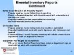 biennial inventory reports continued