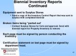 biennial inventory reports continued46