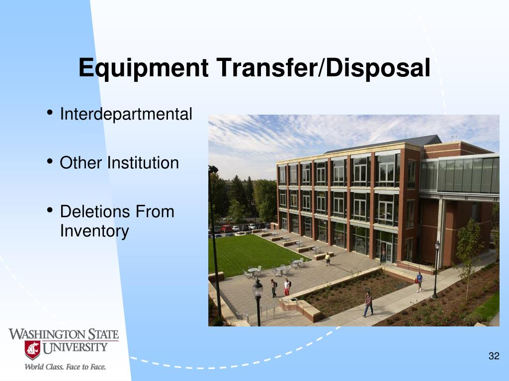 Equipment Transfer/Disposal
