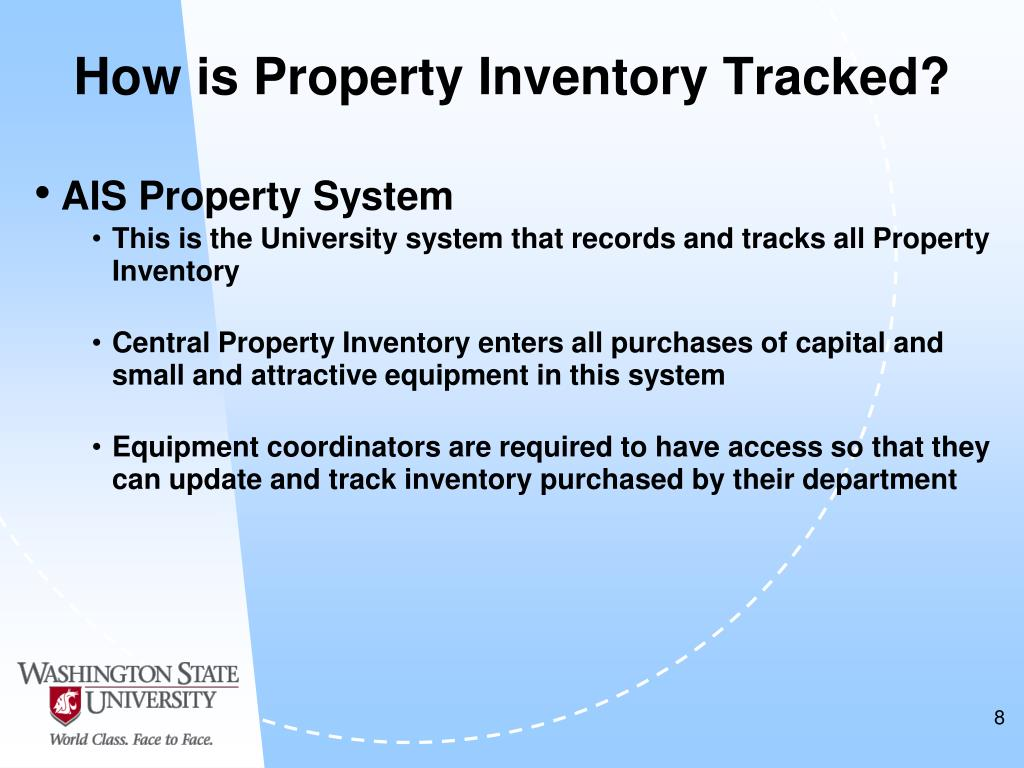 How is Property Inventory Tracked?