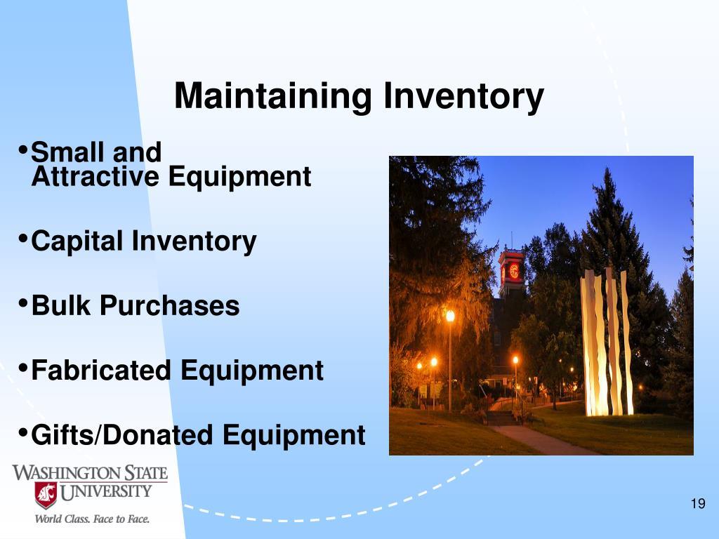 Maintaining Inventory