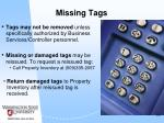 missing tags
