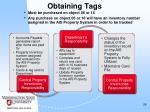 obtaining tags