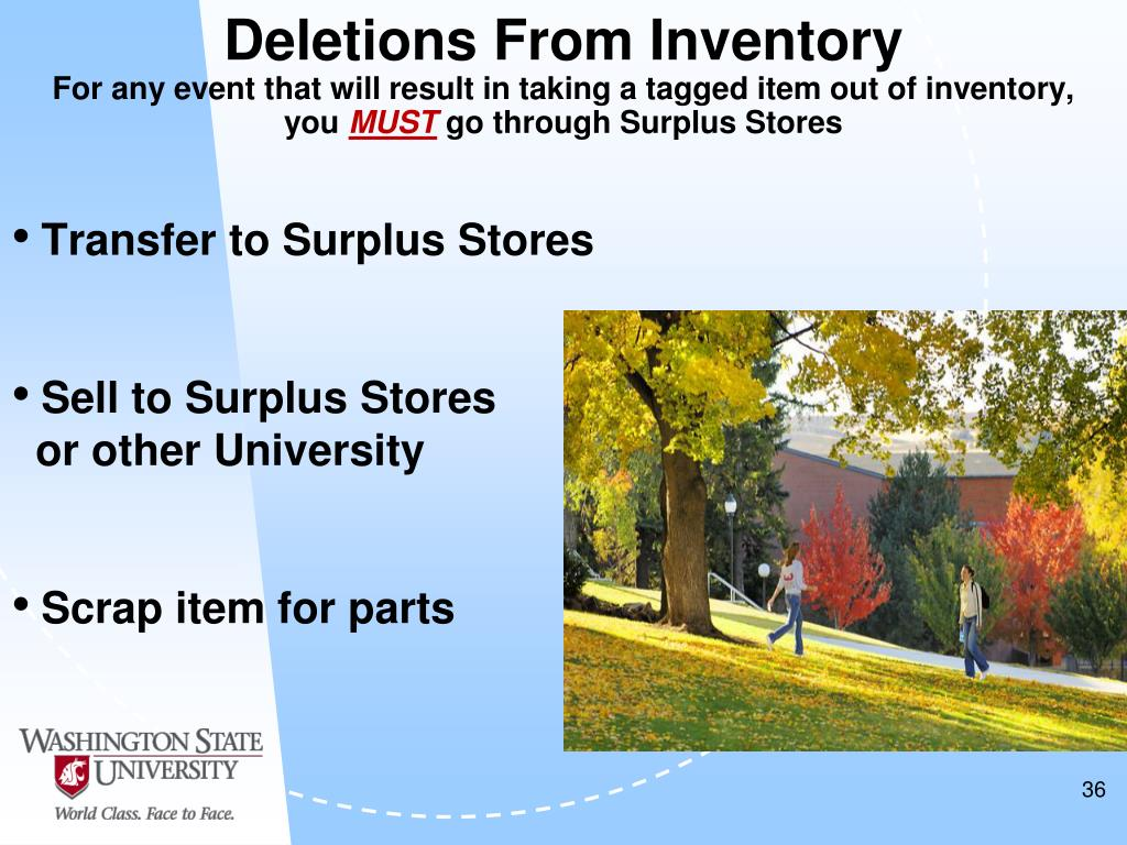 Deletions From Inventory
