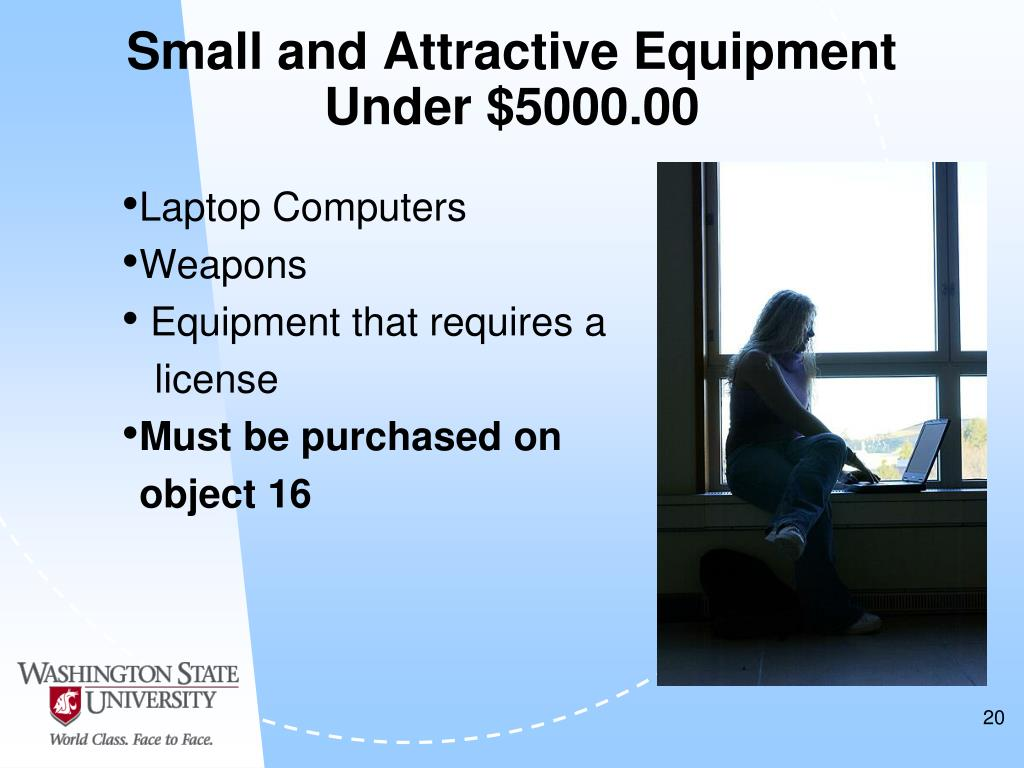 Small and Attractive Equipment