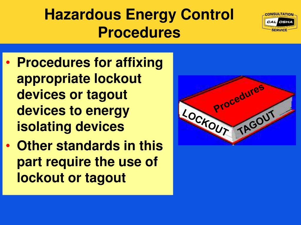 Hazardous Energy Control