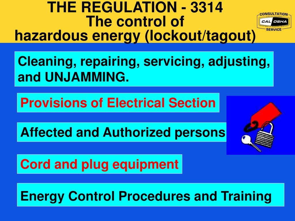 THE REGULATION - 3314