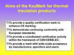 aims of the keymark for thermal insulation products
