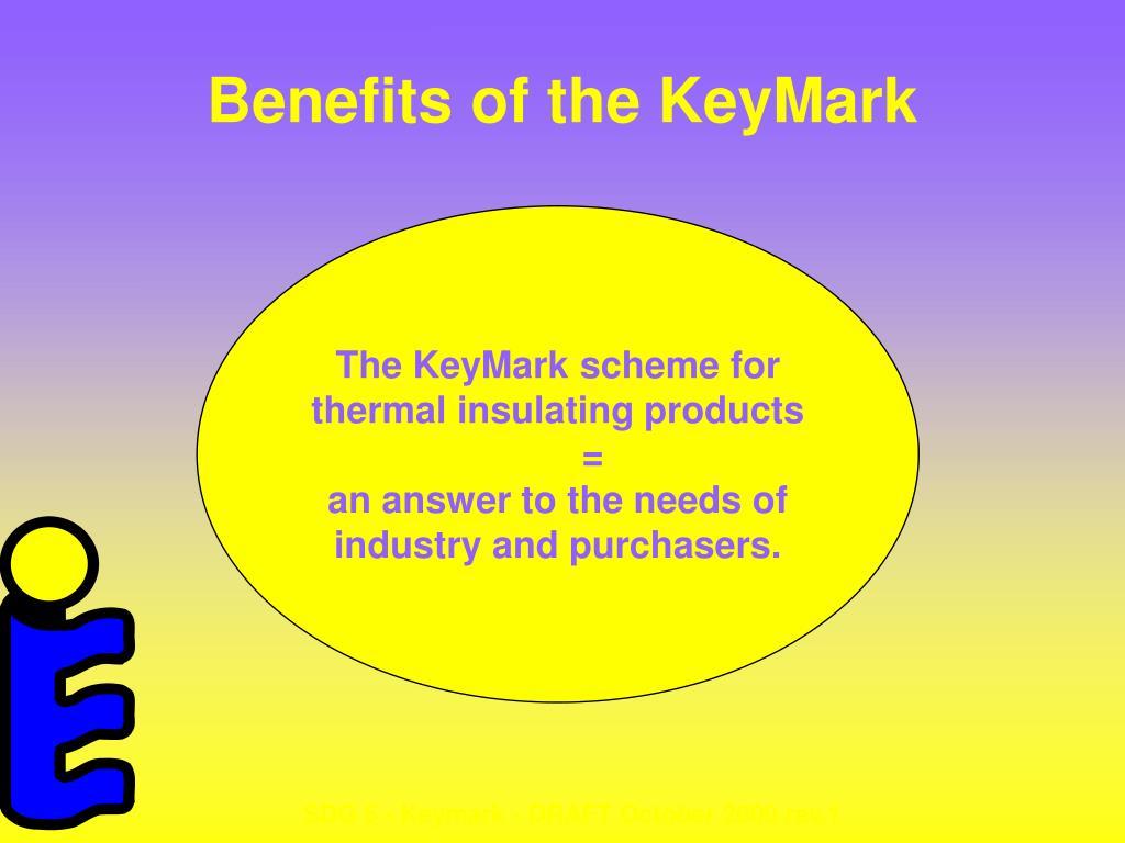 Benefits of the KeyMark