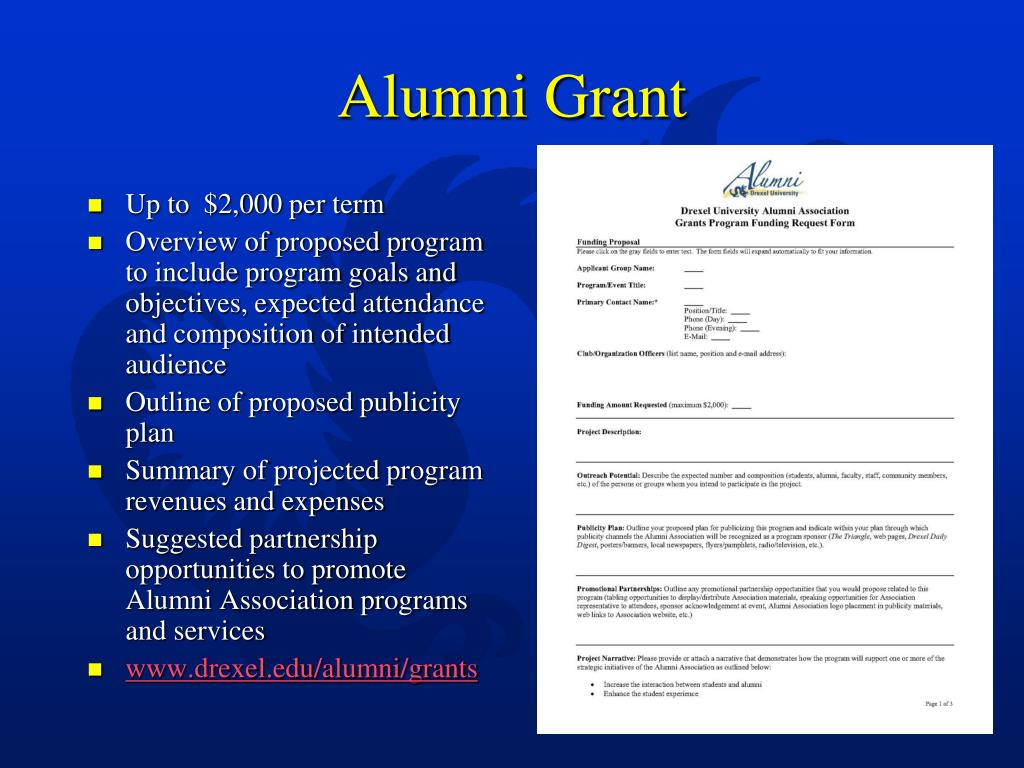Alumni Grant