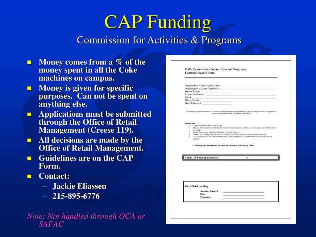 CAP Funding