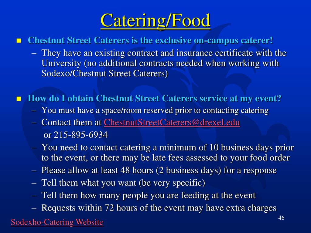 Catering/Food