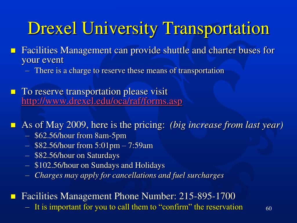 Drexel University Transportation