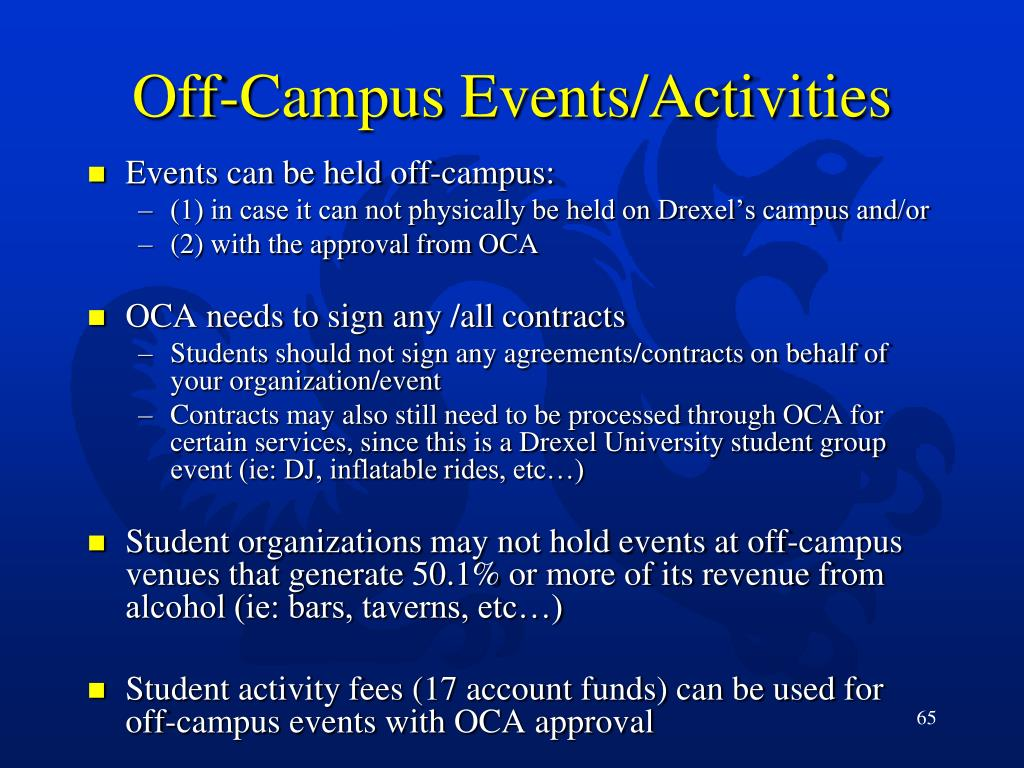 Off-Campus Events/Activities
