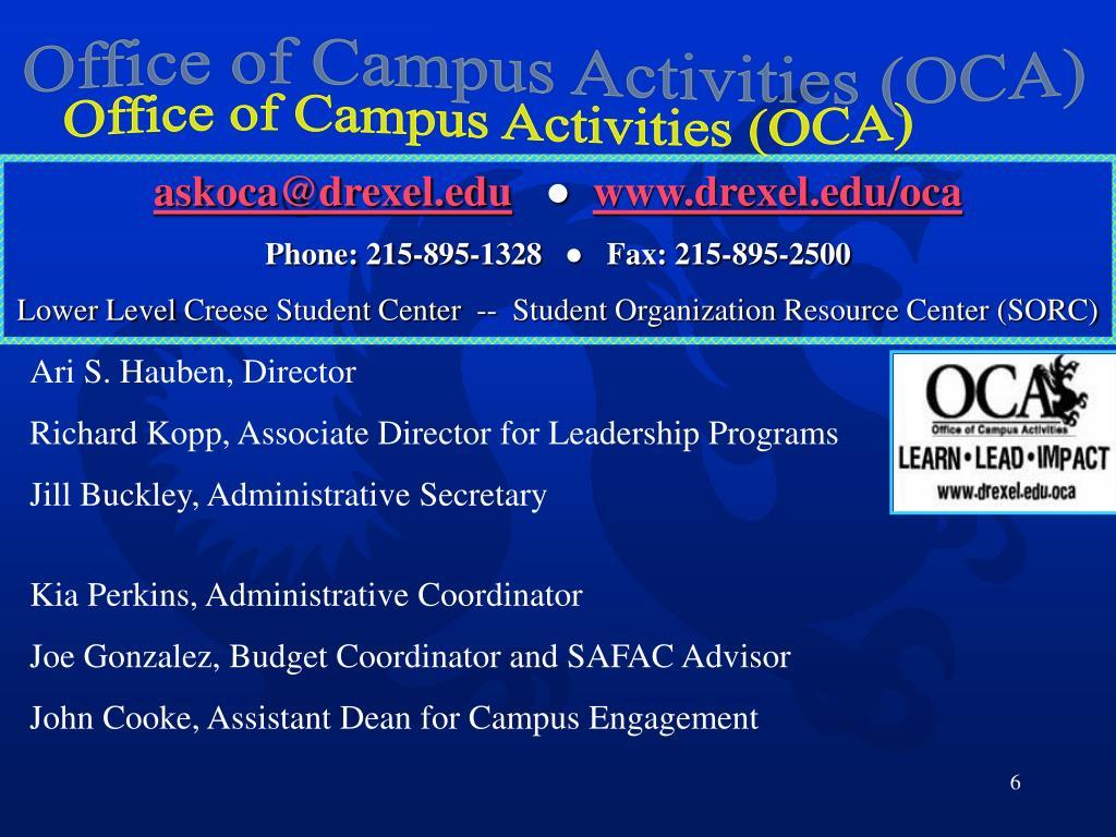Office of Campus Activities (OCA)