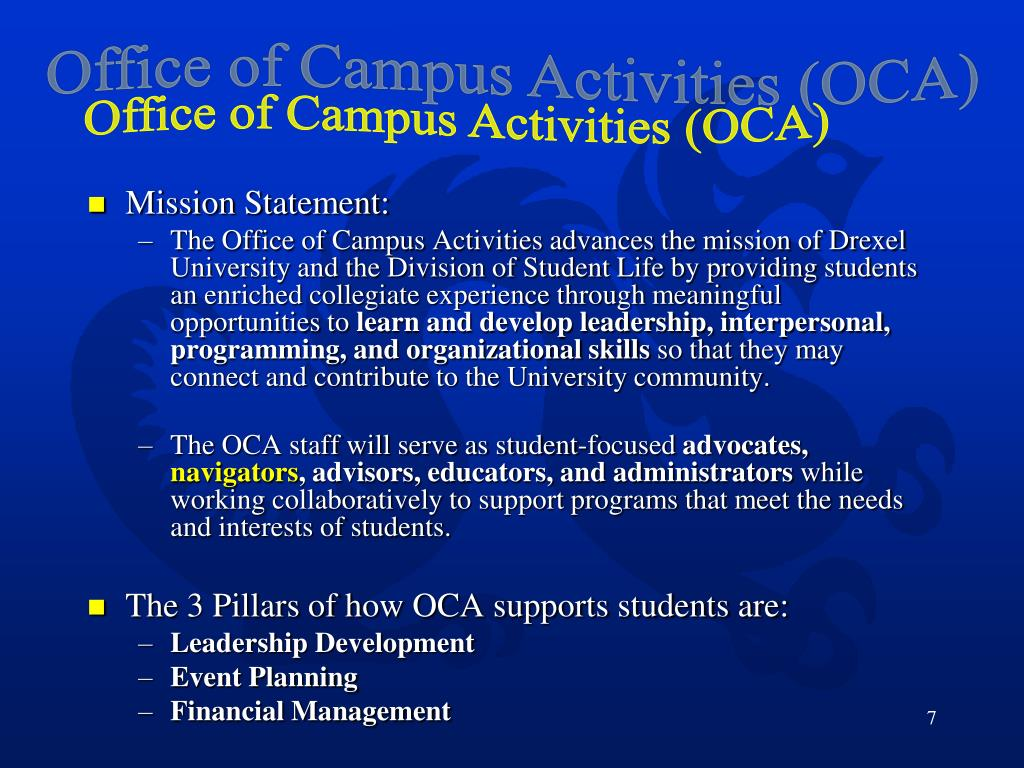 Office of Campus Activities (OCA)