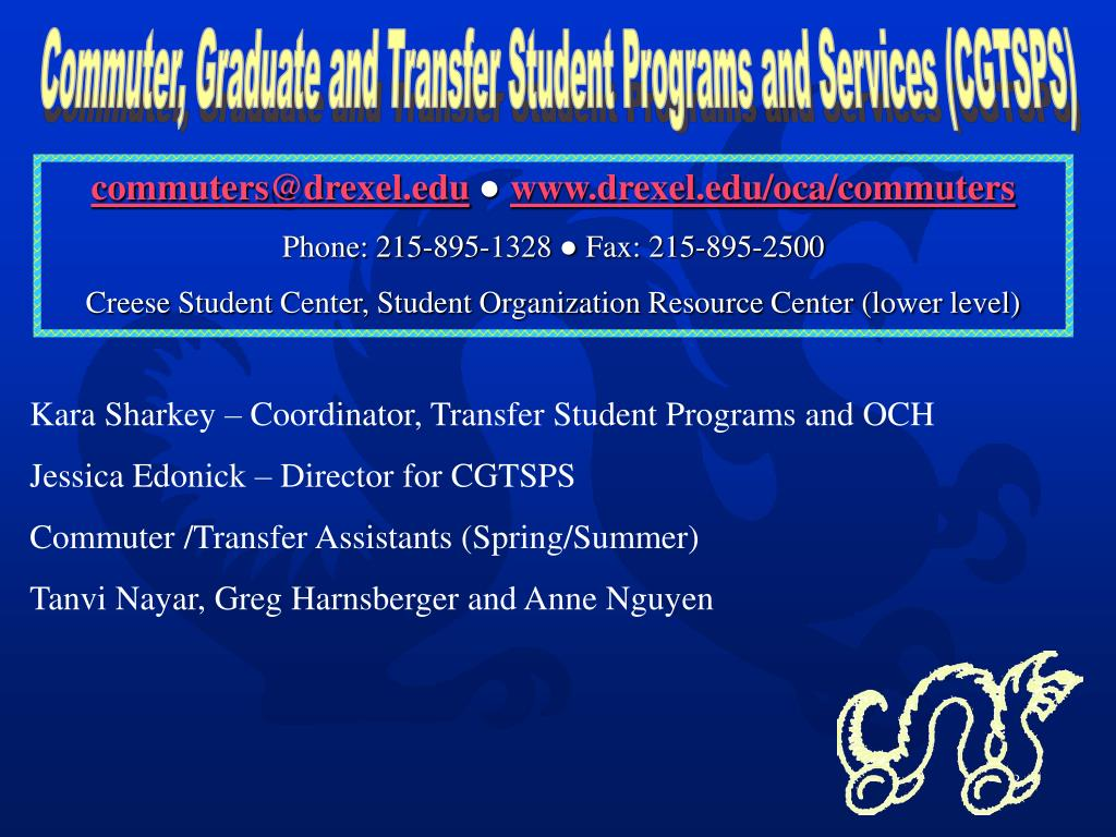 Commuter, Graduate and Transfer Student Programs and Services (CGTSPS)
