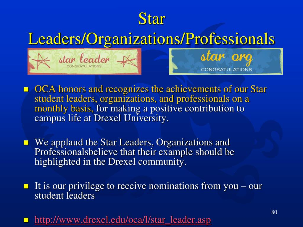 Star Leaders/Organizations/Professionals